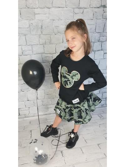 Dívčí komplet Minnie army se sukní
