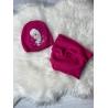 Zimní set čepice a nákrčník Frozen malinový