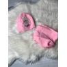 Zimní set čepice a nákrčník Frozen růžový