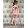 Komplet růžový bunda s křídly a kalhoty