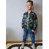 Chlapecká jarní bunda černo-šedá