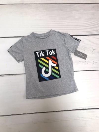 Chlapecké tričko Tik tok color šedé
