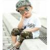 Chlapecký Army komplet bílý - tričko, šortky, kšiltovka