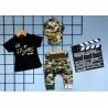 Chlapecký Army komplet černý - tričko, šortky, kšiltovka