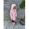 Dívčí delší zimní bunda růžová