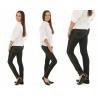 Dívčí zateplené legíny ala jeans černé
