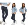 Dívčí zateplené legíny ala jeans modré