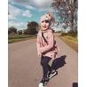 Podzimní dívčí bunda křivák sytě růžová (92)