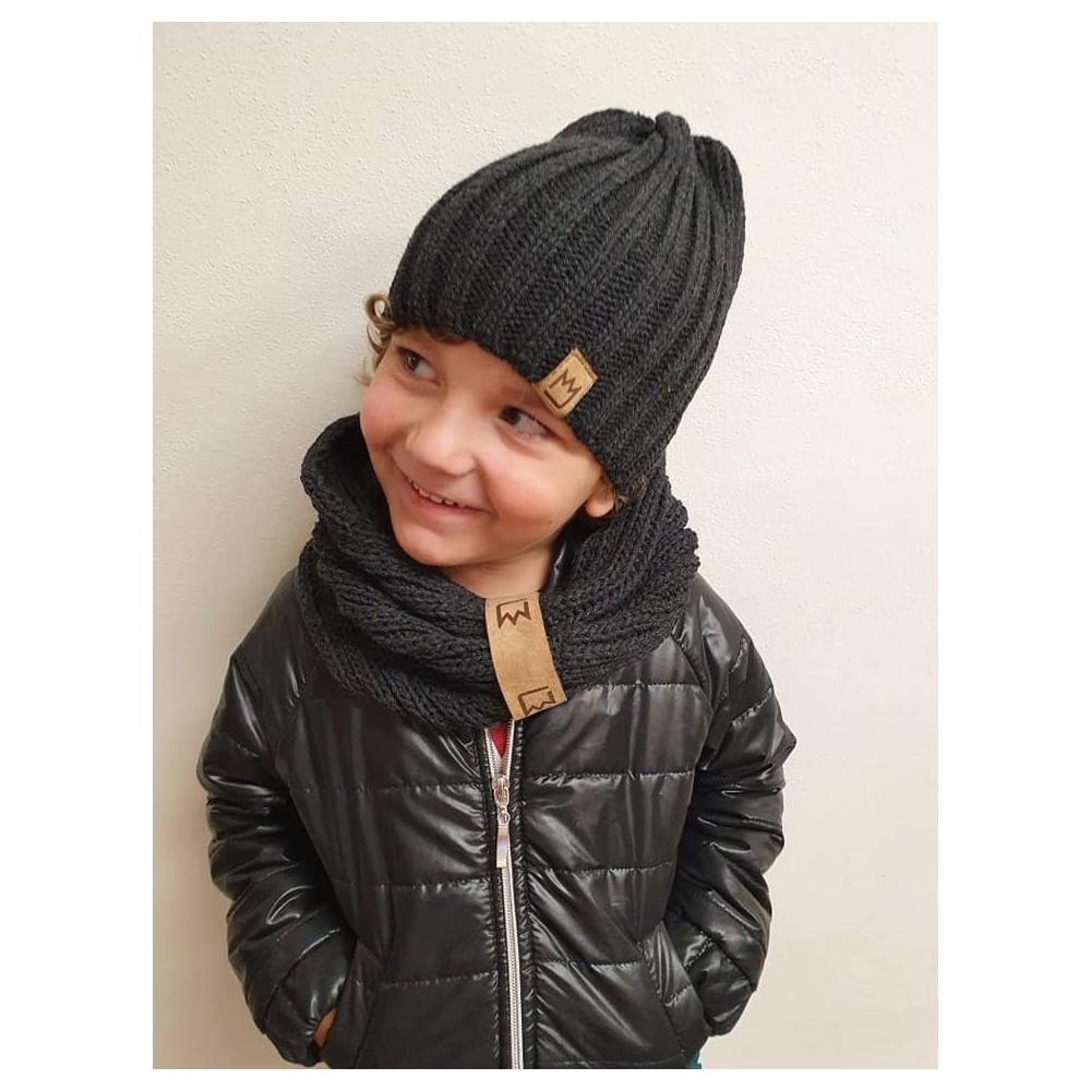 Dívčí černé holínky s růžovou mašlí (31)