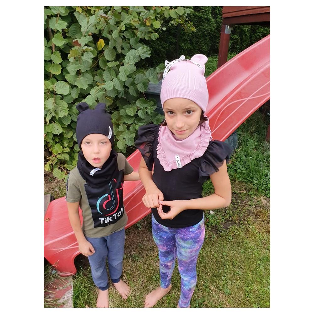 Dámské sportovní legíny Fitness trening Blue-pink flowers (M)