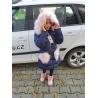 Dívčí zimní bunda navy modrá
