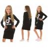 Dívčí šaty Tik Tok černé