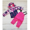 Dívčí zimní komplet bunda a oteplováky růžové