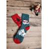 Teplé vánoční ponožky sada 2 ks