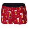 Pánské vánoční boxerky Beer červené
