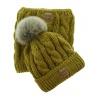 Dětský zimní set čepice a nákrčník My Snow hořčicový