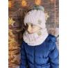 Dětský zimní set čepice a nákrčník My Snow baby pink
