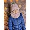 Dětský zimní set čepice a nákrčník My Snow pudrově růžový