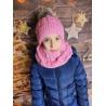 Dětský zimní set čepice a nákrčník My Snow růžový
