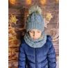 Dětský zimní set čepice a nákrčník My Snow šedý