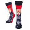 Pánské vánoční ponožky Sob s kravatou červené