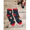 Dámské vánoční ponožky Sobi černé