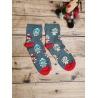Dámské vánoční ponožky Perníčky šedé