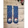 Dámské vánoční ponožky Sob modré