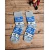 Dámské froté ponožky Norský vzor modro-šedé