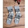 Dámské froté ponožky Norský vzor šedé