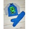 Dětské pyžamo Minecraft tyrkysové