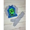 Dětské pyžamo Minecraft tyrkysovo-šedé
