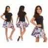 Dívčí šaty s motýly na sukni