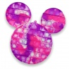 Pop It fidget toy mickey rainbow pink-purple 20 x 19 cm