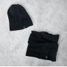 Pánský zimní set čepice a nákrčník blue/grey