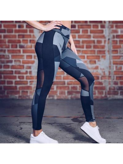 Dámské sportovní legíny Fitness trening černo-šedé