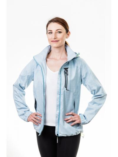 Jarní bunda pastel modrá