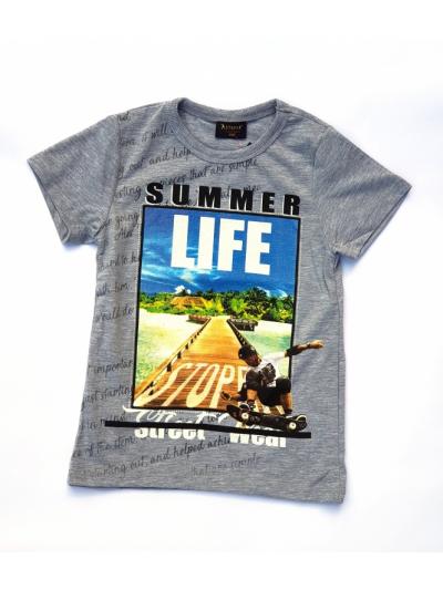 Chlapecké tričko Summer life šedé