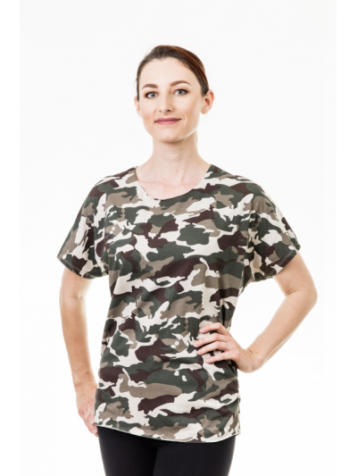 Tričko army béžové