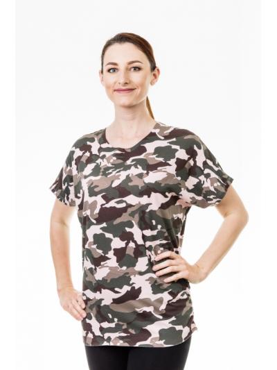 Tričko army růžové