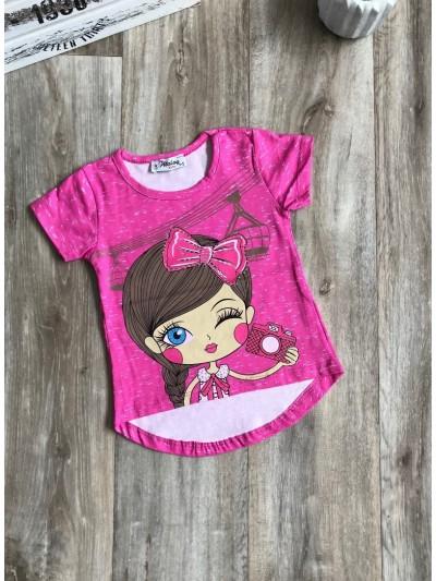 Dívčí tričko Love photo růžové