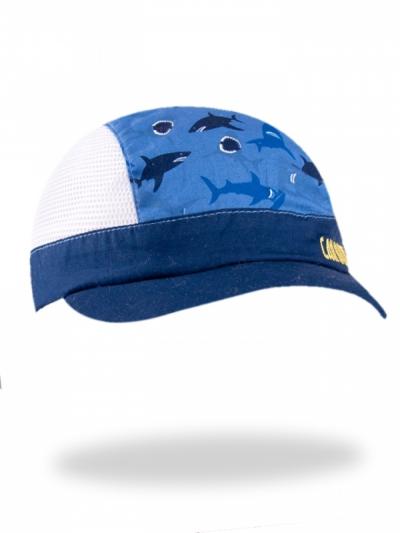 Chlapecká letní čepice/kšiltovka Žraloci modrá 1