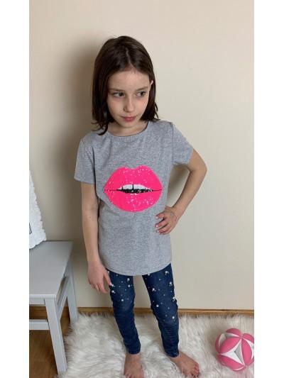 Tričko Lips s filtry šedé