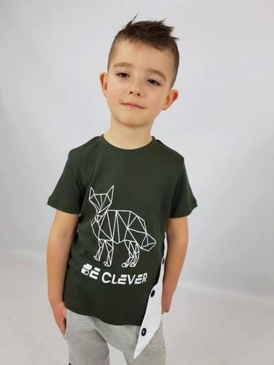 Chlapecké tričko Clever khaki