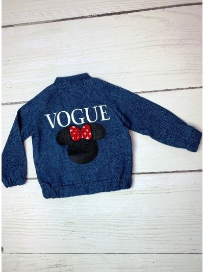 Bomber mikina Vogue Minnie jeans design