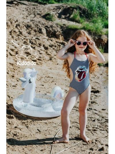 Dívčí pruhované plavky s flitry Lips