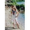 Dívčí plážové šaty Relax white